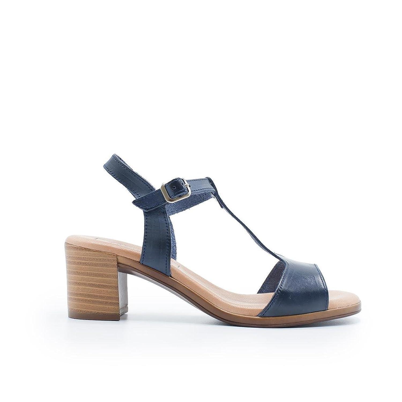 005d59d26 Venta caliente 2018 ZAPSHOP 67502-V Sandalias de Tacón Medio 100% Piel para  Mujer