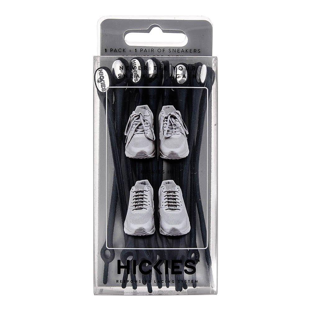 Hickies Cordones Elásticos No-Tie 2.0 Performance - Blanco (14 Unidades, Funciona con todas las zapatillas)