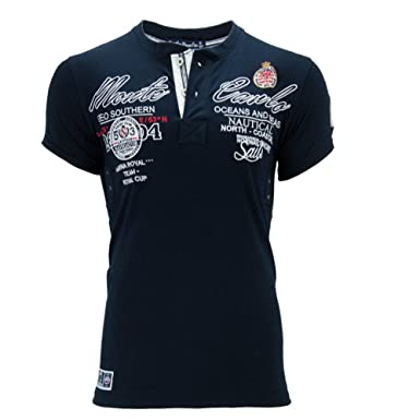 Geographical Norway - Camiseta - Cuello redondo - para hombre azul ...