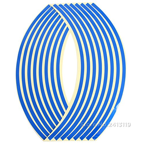 Car Styling Strips Wheel Stickers for 735i 320i 330xi 528e 535i 325Ci 633CSi 318is 535i GT Isetta 1800 X6 502 2000 2000tii - (Color Name: Blue, Size: 17 inch or 18 inch)