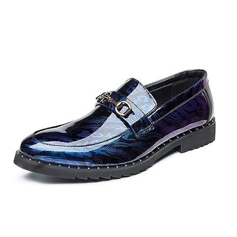 CATEER Hombres Mocasines Zapatos C Casual Charol Moda ...
