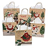 Arts & Crafts : One Dozen Paper Christmas Craft Bag Assortment/CHRISTMAS/HOLIDAY wrap by Fun Express