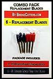 COMBO 45/60 -6 Standard Deep Cut Replacement Blades for Craft Cutting Machines, Bridge, Cricut, Foison, Explore