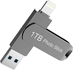 1TB USB Flash Drive for iPhone - 1TB iPhone Photo Stick iPhone Photo Storage iPhone Memory Stick iPhone Thumb Drive USB 3.0 High Speed for iPhone iPad and Computers XHL4