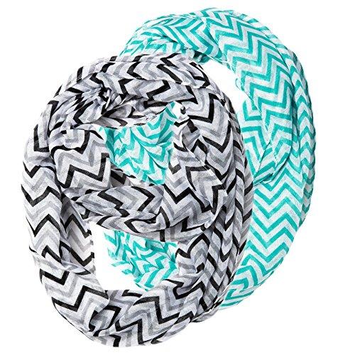 hip-mall-2pcs-lightweight-wave-zig-zag-chevron-sheer-loop-infinity-scarf