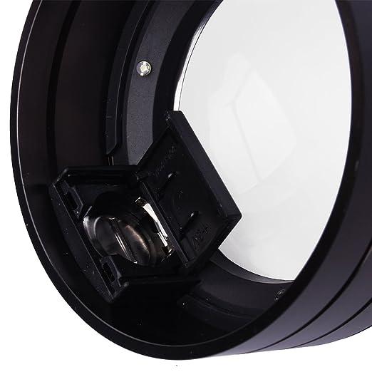 XCSOURCE® 6X Paper Pressing LED Lupa Magnifier Loupe Magnifying Glass Metal Bolsillo Portátil TE064: Amazon.es: Electrónica