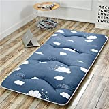 hxxxy Folding Tatami floor mat,Portable sleeping pad Queen-king Traditional japanese futon Washable-C 180x200cm(71x79inch)