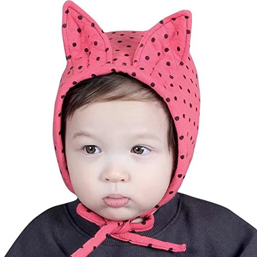 047df3df0d6 Amazon.com  Mchoice Baby Boy Girl Hair Ball Earbud Hat Child Print ...