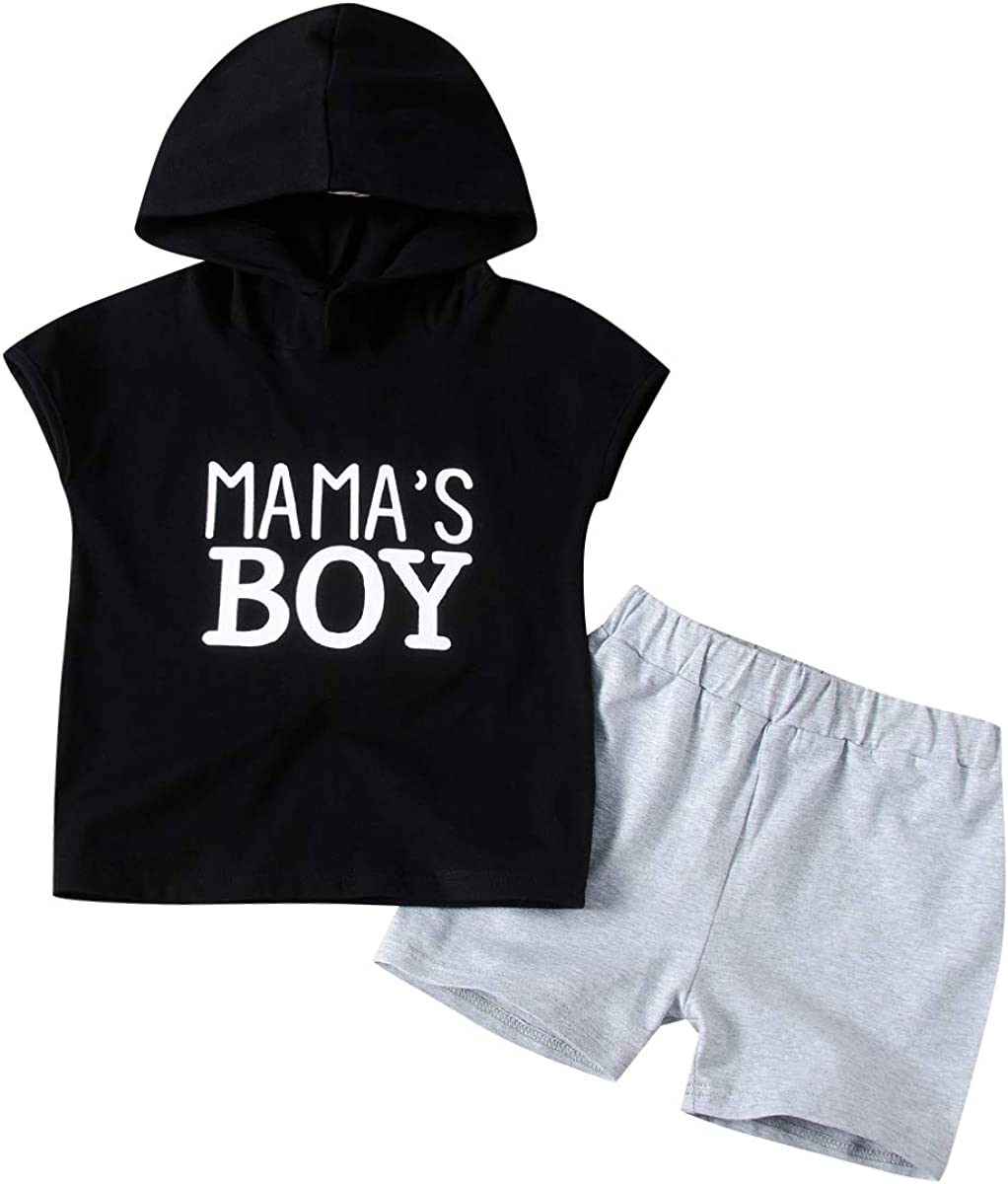 Toddler Infant Baby Boy Clothes Breathable Hoodie Sweatshirt Tops Camouflage Shorts Outfit Sets