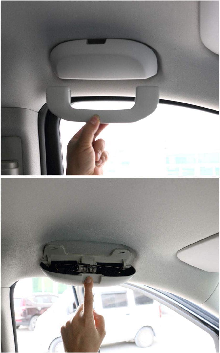 Porta Occhiali Anti-graffio in ABS Compatibile con Mercedes Benz A Class B Class C Class E Class M Class V Class GLA GLC GLS GL Kwaks Scatola per Occhiali da Sole per Auto Grigio