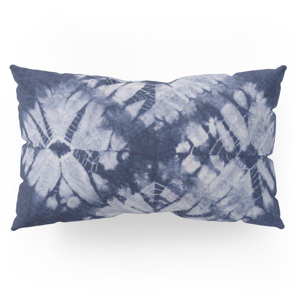 Society6 Denim Tie Dye Pillow Sham King (20'' x 36'') Set of 2