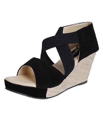 e94ad99b2aec Alphastar Women s Velvet Fashionable Heeled Sandals  Buy Online at ...