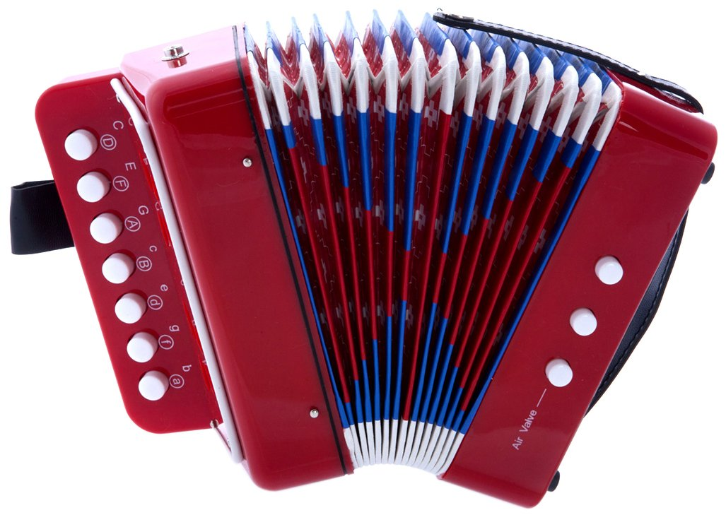 D'Luca G105-RD Child Button Accordion Red D'Luca