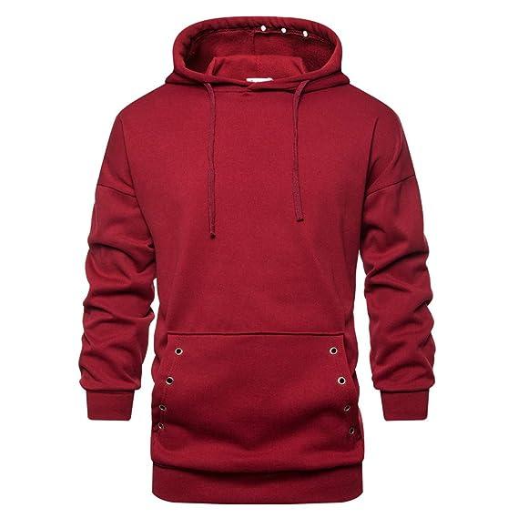Amazon.com: Sudadera con capucha para hombre, estilo hipster ...