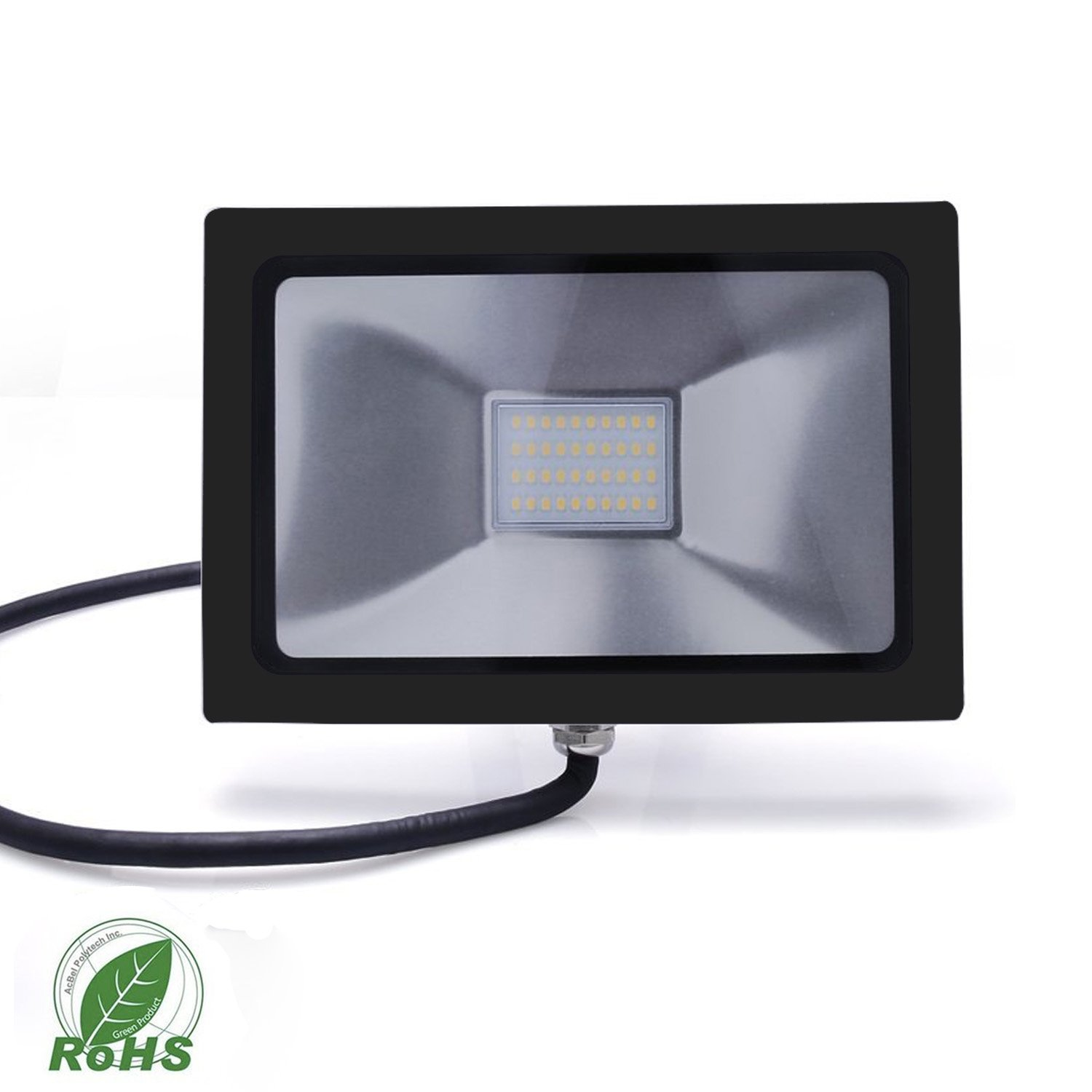 Light Blue™ 50W High Power Outdoor LED Flood Lights, Sleek, Slim design, (150W HPS Bulb Replacement) 5000K Daylight, 4715 Lumens, Waterproof and Outdoor Rated, UL-Listed by Light Blue USA