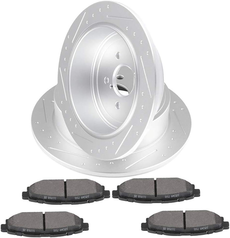 For 2008 2009 2010 Subaru Impreza Front /& Rear Brake Rotors Ceramic Pads