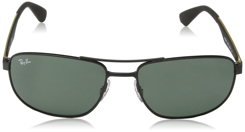 3907699502e Amazon.com  Ray-Ban METAL MAN SUNGLASS - MATTE BLACK Frame DARK GREEN Lenses  58mm Non-Polarized  Clothing