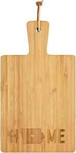 Iowa Home Letter Stamped 8.5 x 4.75 Wood Paddle Cheese Cutting Board