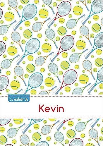 Téléchargement Le cahier de Kevin - Petits carreaux, 96p, A5 - Tennis pdf, epub ebook