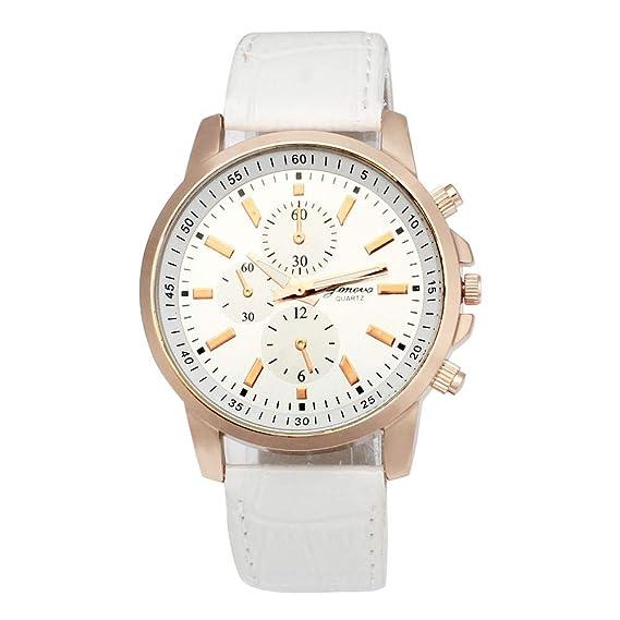 Bestow Reloj Anal¨gico de Cuero Geneva Geneva Leather Dial Reloj Deportivo de Cuarzo Dial