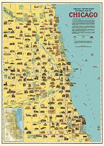 Cavallini & Co. Chicago Map Decorative Paper Sheet 20