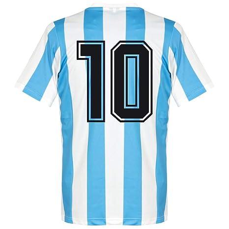 design distinctif pas cher à vendre collection de remise Le Coq Sportif 1986 l'Argentine Home Rétro Chemise + N ° 10 ...