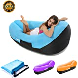 Xueliee gonfiabile Lounger Air divano letto, Portable Summer Air amaca con custodia compatta