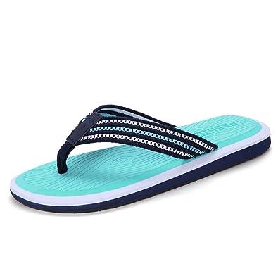 Summer Man Slipper, Sandalen Schuh mit Füßen Anti-Rutsch Strand Schuhe Flip Flops Fuß Hausschuhe Großformat Hotel Gästezimmer Slipper ( Farbe : D , größe : 24.5CM )