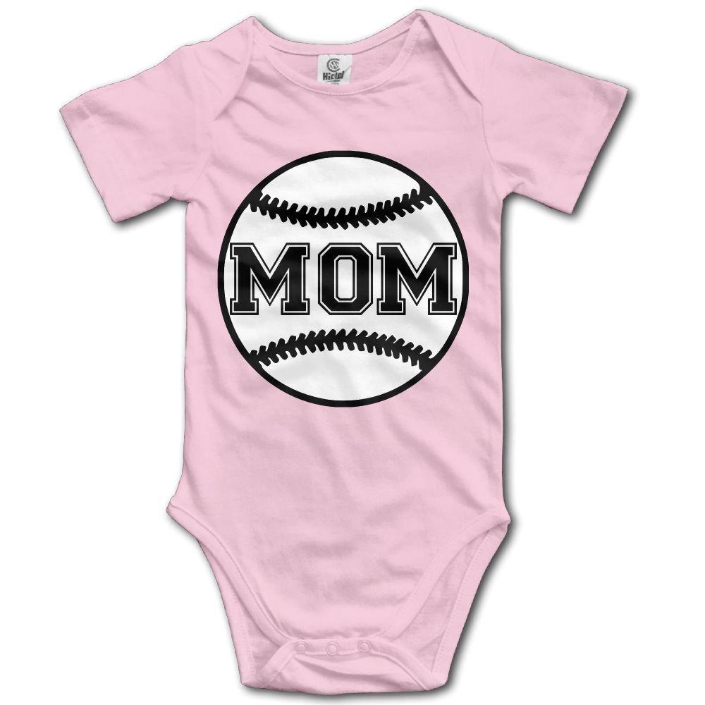 Jaylon Baby Climbing Clothes Romper Softball Mom Infant Playsuit Bodysuit Creeper Onesies Pink