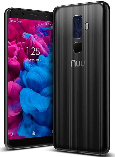 NUU Mobile G3 Plus - Dual SIM 4G LTE Unlocked Cell Phone - 64GB/4GB RAM -  Onyx Black - US Warranty