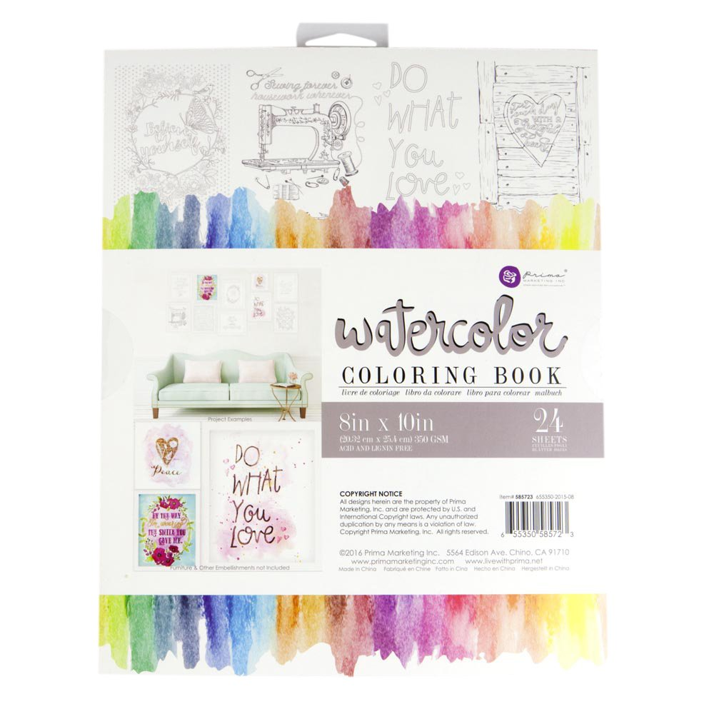 66+ Watercolor Coloring Books For Adults Picture HD