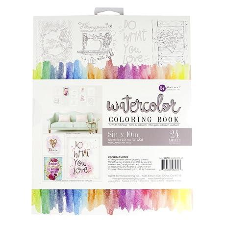 prima marketing 8x10 watercolor coloring book - Watercolor Coloring Book