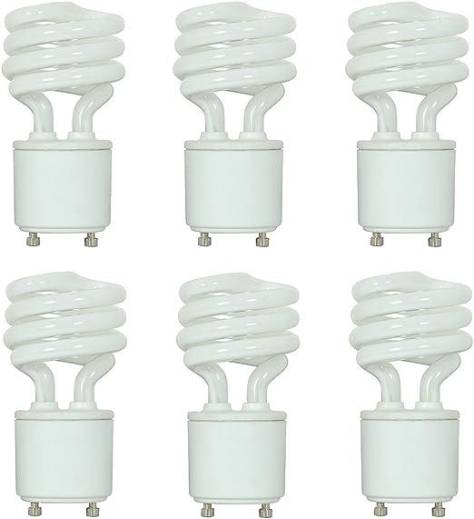 800 Lumens Mini Spiral CFL Soft White 2700K GU24 Satco S8203 13 Watt 60 Watt