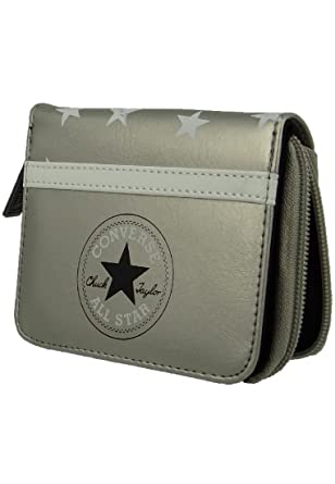 070f12c6ca33 Converse wallet purse 410620 Zip Wallet Starlight Silver Metallic Silver   Amazon.co.uk  Clothing