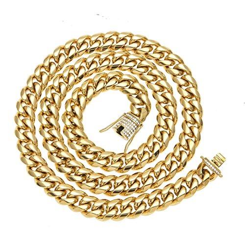 0d74e23ff92c Buena Beydodo Colgante Collar Chapado en Oro Hombre Collar de Hombre Collar  Cadena Trenzada Simple Circonita