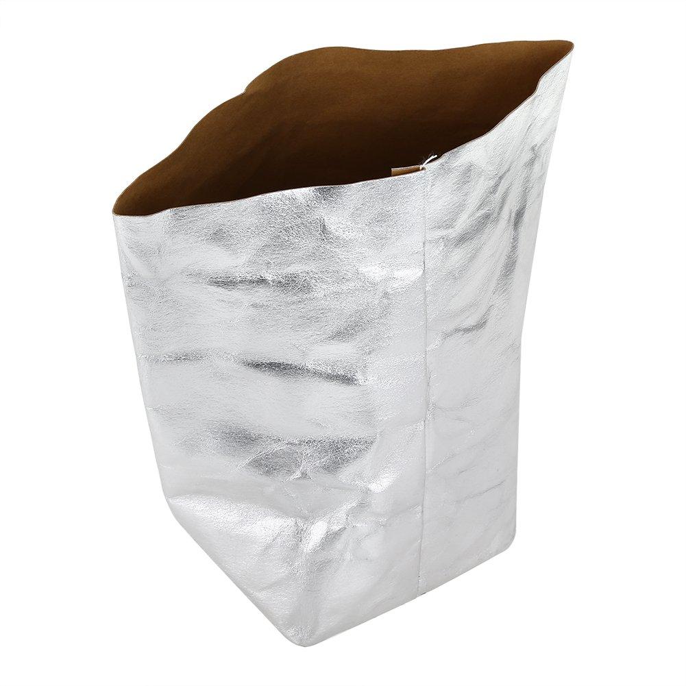 Zerodis Bolsa de papel lavable Kraft Muti-función de la Oficina de almacenamiento en el hogar Bolsa de flores reutilizables macetas de flores(S)