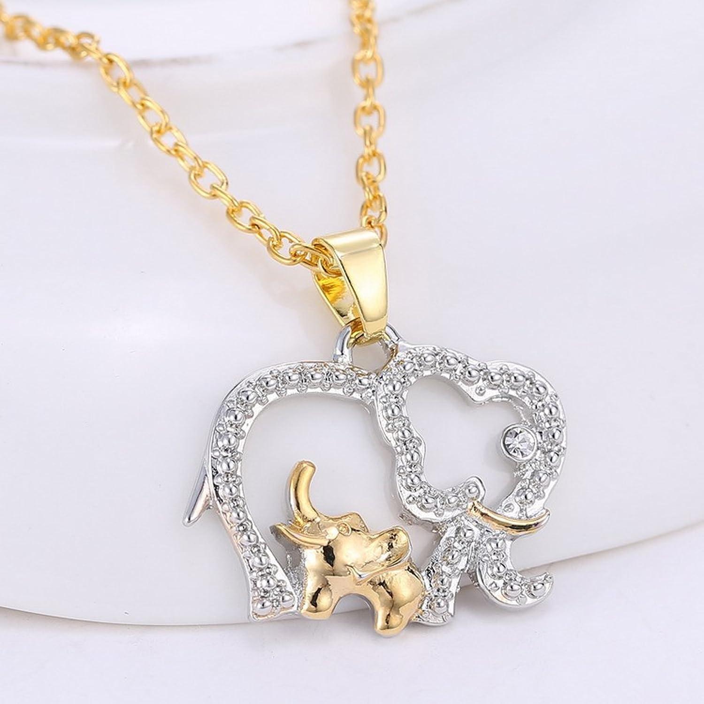 Amazon magideal elephant mom and baby pendant necklace for amazon magideal elephant mom and baby pendant necklace for mother gift gold silver jewelry aloadofball Images