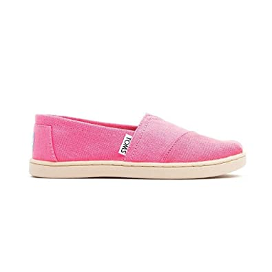 4dff328f50df7 Amazon.com | Toms Shoes Youth Classics Pink Canvas Slip-On Shoes ...