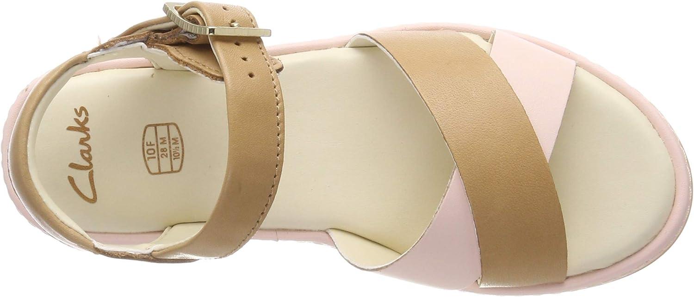 Clarks Girls Skylark Pure K Ankle Strap Sandals