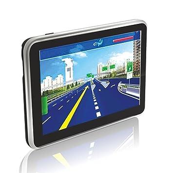 Navegador GPS capacitivo de 500 pulgadas de 5 pulgadas Bluetooth Navigator con GPS (Color negro): Amazon.es: Coche y moto