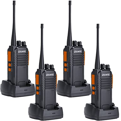 Walkie Talkies 5W Ham Radio Long Range Olywiz-813 Two Way Radios 1400MAH Rechargeable Li-ion Battery IP 54 Protection for Camping 4 Pack