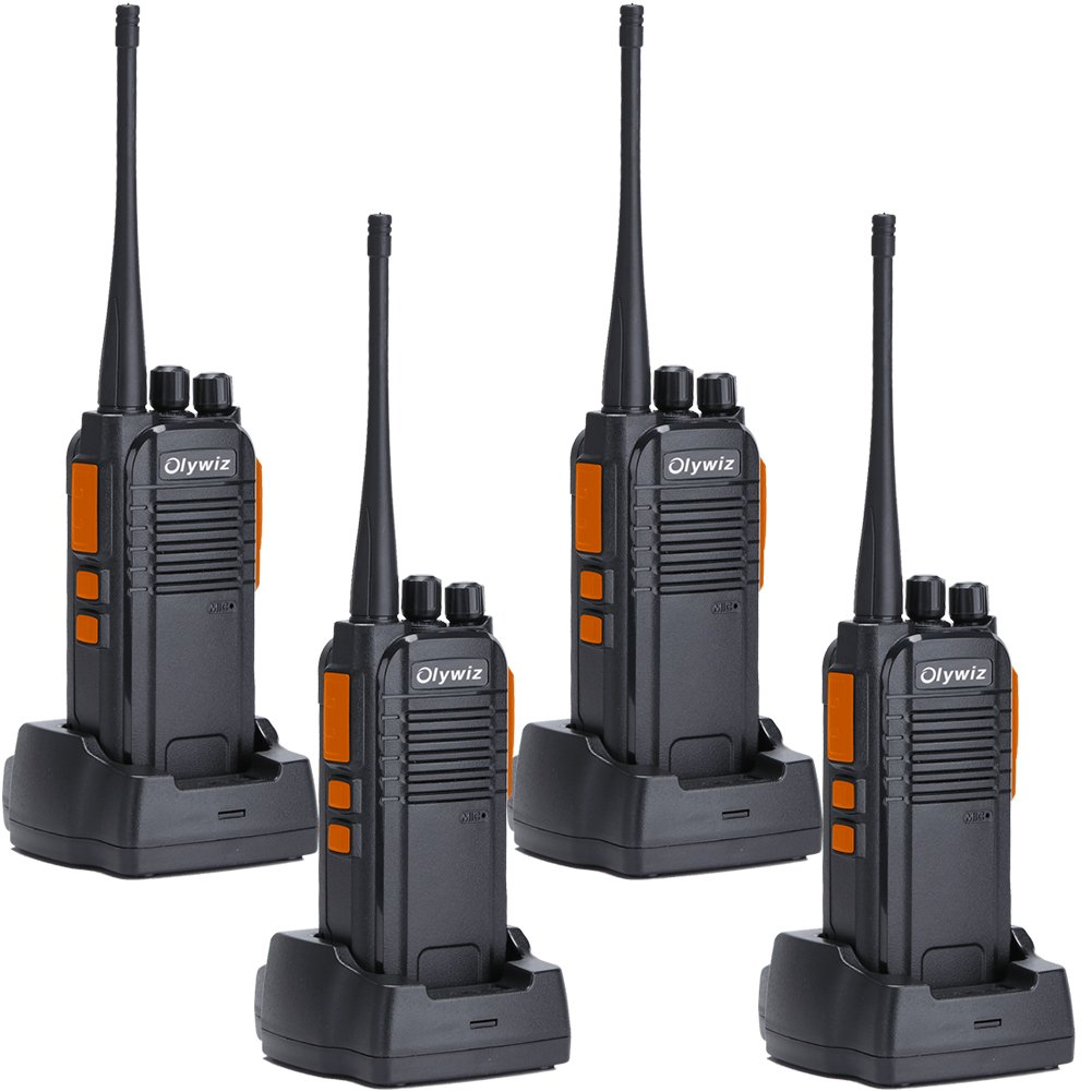 Olywiz GTS-813 High Power GMRS 400-470MHz Two Way Radio with 16 Channels IP 55 Waterproof Outdoor Used Walkie Talkie 4 PACK by Olywiz
