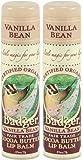 Badger Cocoa Butter Lip Balm-Vanilla Bean, 2 pack