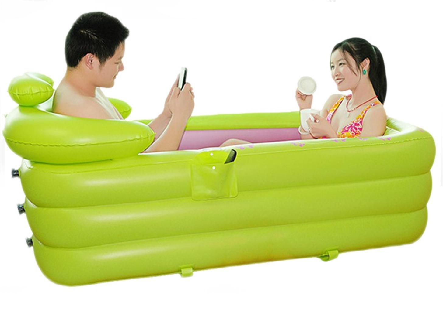 FACAI888 Doppia vasca gonfiabile piscina adulti plastica bagno barile barile più spesso isolamento grande vasca , l