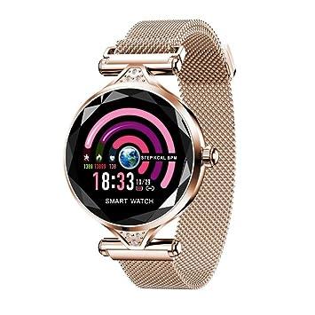 Reloj Inteligente De Alta Gama, Pulsera Inteligente Multifunción Y Multi-Idioma, Pantalla A Color Resistente Al Agua, Corte De Cristal: Amazon.es: ...
