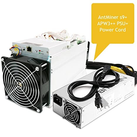 AntMiner S9 ~13 5TH/s @ 0 098W/GH 16nm ASIC Bitcoin Miner with Power Supply  and Cord