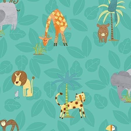 Holden Decor Make Believe Jungle Friends Neutral Wallpaper 12540 Kids Childrens