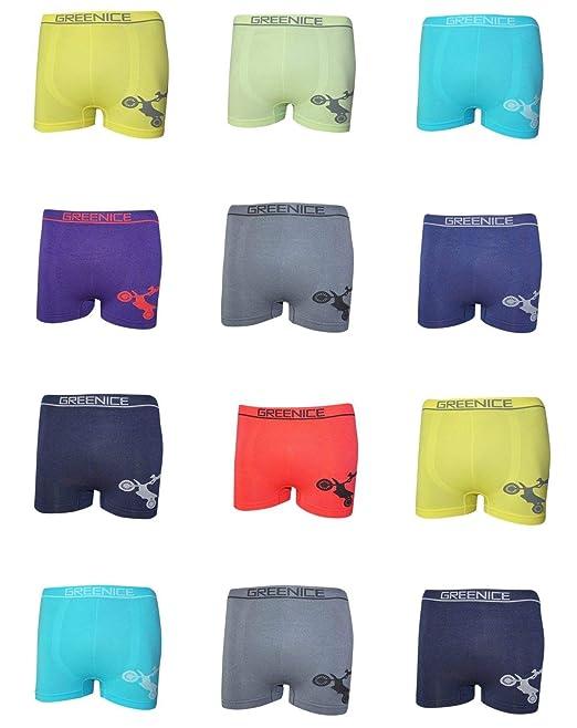 DealZone Pack of 12/Kids Boys Uomo Microfibre Boxer Shorts