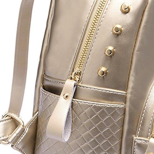 Women Leather Soft Shoulder Capacity Multifunctional Backpack Black Bag Large Backpack EBC1ZCqw