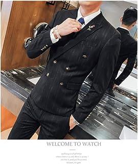 TDPYT Traje De 3 Piezas para Hombre Slim Fit Boda Ropa Formal Negocio Hombre Negro Traje Traje Elegante (Blazer + Pantalones + Chaleco)
